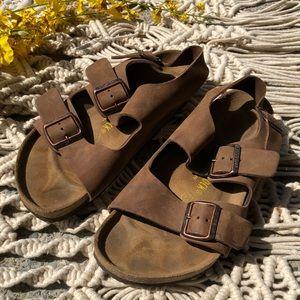 Leather Birkenstocks Size 41 M 8-8.5 W 10-10.5 EUC